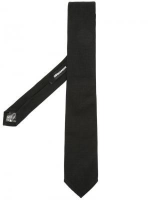 Классический галстук Evening Dsquared2. Цвет: чёрный