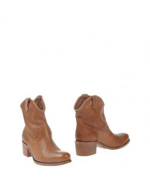 Полусапоги и высокие ботинки TREMP. Цвет: коричневый