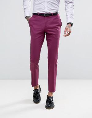 Noose & Monkey Супероблегающие брюки. Цвет: розовый