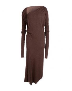 Длинное платье RICK OWENS LILIES. Цвет: какао