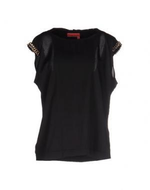 Блузка MANILA GRACE DENIM. Цвет: черный