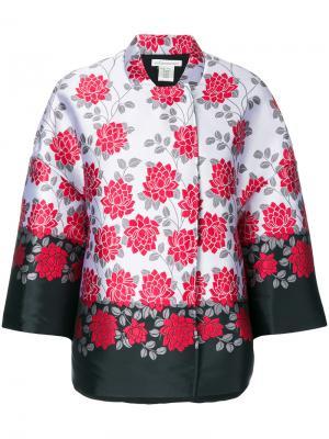 Свободная куртка со скрытыми пуговицами Stefano Mortari. Цвет: многоцветный