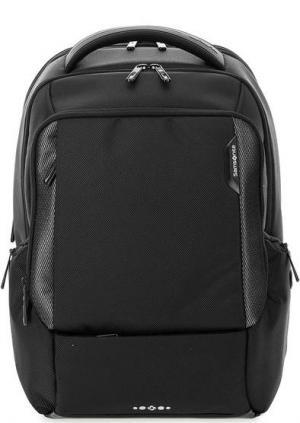 Большой черный рюкзак с широкими лямками Samsonite. Цвет: черный