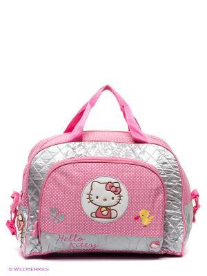 Дорожная сумка Hello Kitty Acolchada. Цвет: бледно-розовый, серый