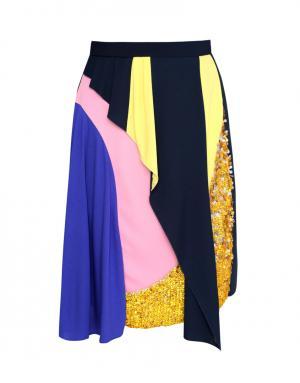 Юбка с принтом Peter Pilotto. Цвет: синий, розовый, желтый, фиолетовый