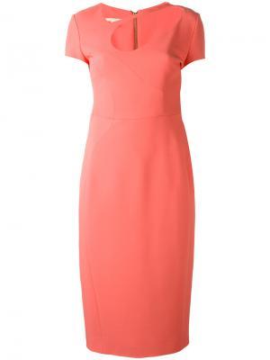 Платье с вырезом Antonio Berardi. Цвет: жёлтый и оранжевый