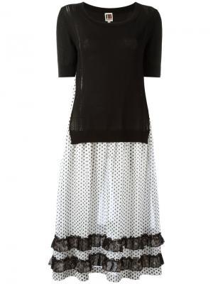 Платье-свитер 2-в-1 IM Isola Marras I'M. Цвет: чёрный
