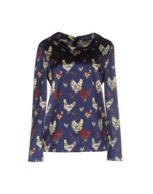 Блузка LAURA URBINATI. Цвет: темно-синий