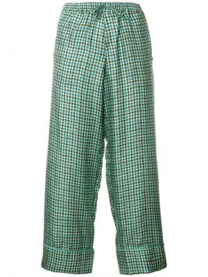 Укороченные строгие брюки Pierre-Louis Mascia. Цвет: многоцветный
