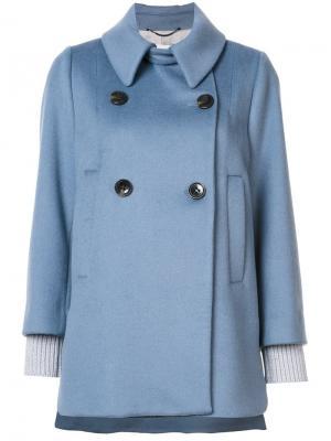 Пальто Smooth Volume Dorothee Schumacher. Цвет: синий