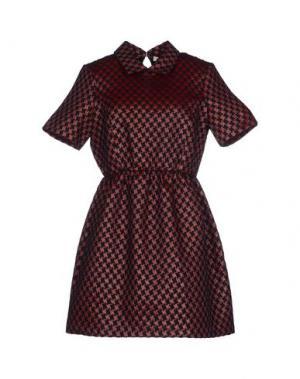 Короткое платье VICOLO. Цвет: красно-коричневый