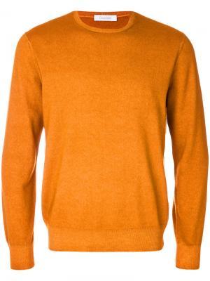 Пуловер с круглым вырезом Cruciani. Цвет: жёлтый и оранжевый