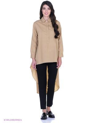 Рубашка L'Anu de Meri. Цвет: светло-коричневый