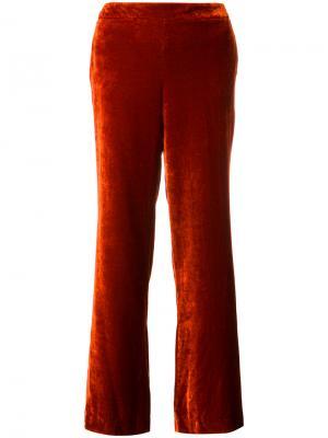 Бархатные широкие брюки  LAutre Chose L'Autre. Цвет: жёлтый и оранжевый