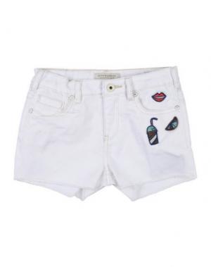 Джинсовые шорты SCOTCH R'BELLE. Цвет: белый