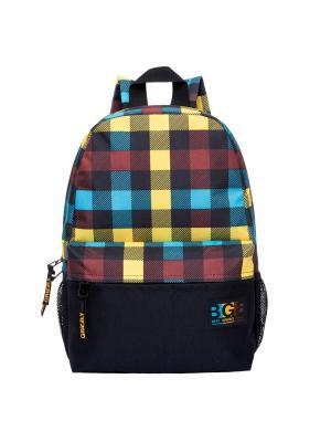 Рюкзак Grizzly. Цвет: черный,синий,светло-оранжевый