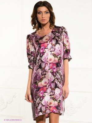 Платье Dino Chizari. Цвет: розовый, зеленый, лиловый
