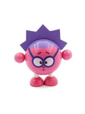Развивающая игрушка дергунчик Ёжик Игрушки из дерева. Цвет: фуксия