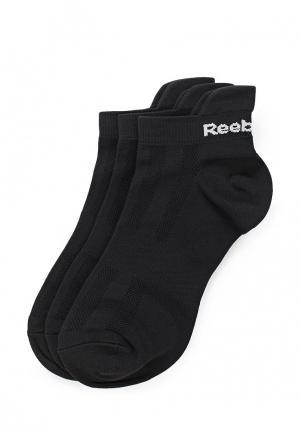 Комплект носков 3 пары Reebok. Цвет: черный