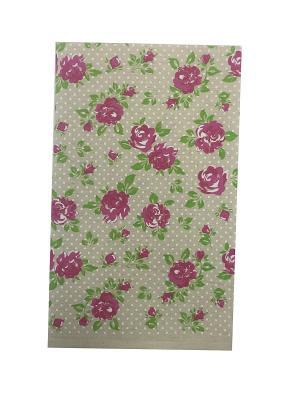 Полотенце A and C Collection. Цвет: бежевый, розовый, зеленый
