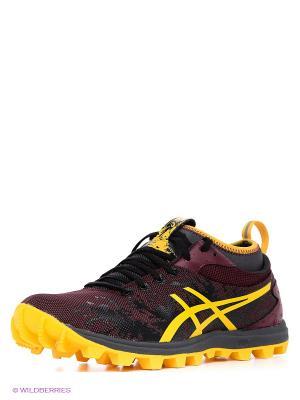 Беговые  кроссовки Gel-Fujirunnegade ASICS. Цвет: красный, оранжевый, черный