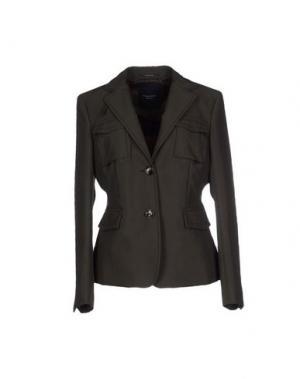 Пиджак CALVARESI. Цвет: темно-коричневый