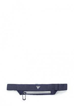 Сумка поясная adidas. Цвет: синий