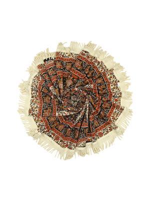 Покрывало круглое диаметр 150 см ETHNIC CHIC. Цвет: черный, белый, красный