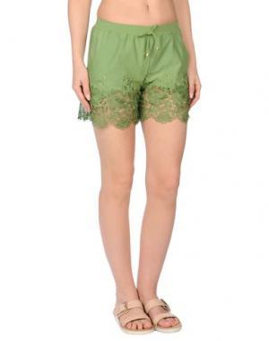 Пляжные брюки и шорты MISS NAORY. Цвет: зеленый-милитари