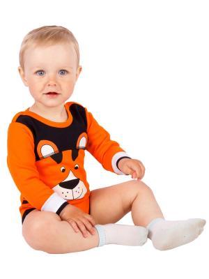 Боди для детей Апрель. Цвет: черный, оранжевый