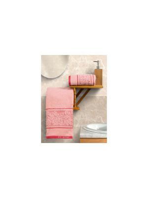 Набор махровых полотенец Арт Постель. Цвет: персиковый, красный
