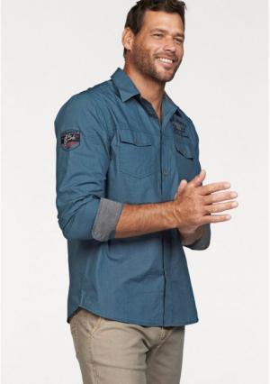 Рубашка MANS WORLD MAN'S. Цвет: синий
