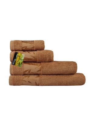 Полотенце махровое Бамбук SPAOLLO. Цвет: светло-коричневый