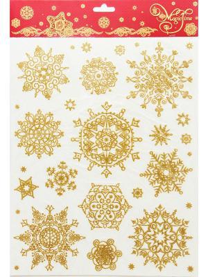 Снежинки золотые объемные-2 Magic Time. Цвет: золотистый
