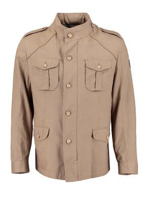 Куртка Florentino. Цвет: бежевый