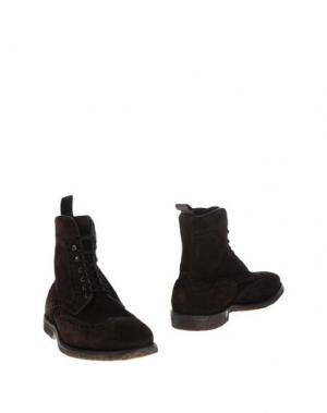 Полусапоги и высокие ботинки REGAIN. Цвет: темно-коричневый