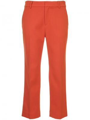 Классические укороченные брюки Guild Prime. Цвет: жёлтый и оранжевый