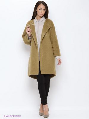 Пальто PALLARI. Цвет: светло-коричневый