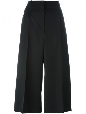 Укороченные широкие брюки Alexander McQueen. Цвет: чёрный