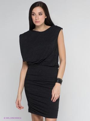 Платье Vero moda. Цвет: антрацитовый
