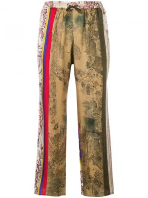 Patterned cropped trousers Pierre-Louis Mascia. Цвет: многоцветный