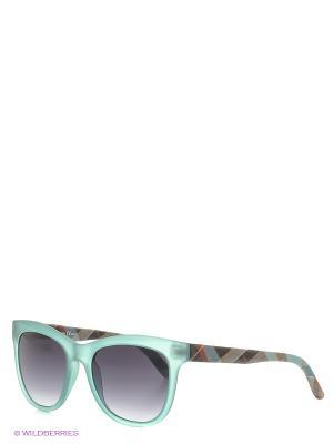 Солнцезащитные очки TOUCH. Цвет: бирюзовый