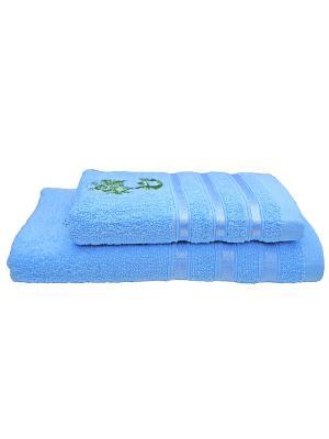 Комплект полотенец 2пр Life (50х90,70х140) La Pastel. Цвет: голубой