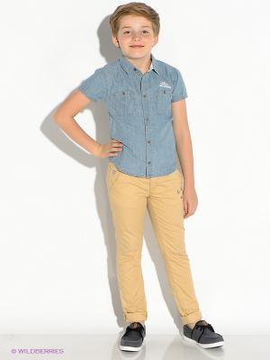 Рубашка Vilatte. Цвет: голубой