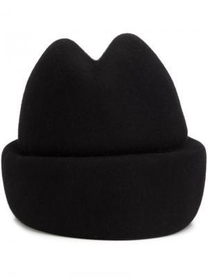 Шляпа с углублением на макушке Gigi Burris Millinery. Цвет: чёрный