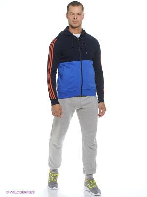 Толстовка M L FLC ZHDY Adidas. Цвет: синий, голубой