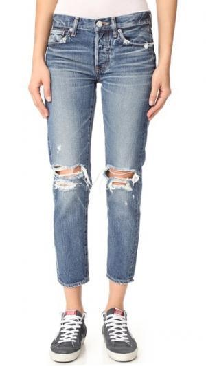 Зауженные джинсы LMV Latrobe MOUSSY. Цвет: голубой