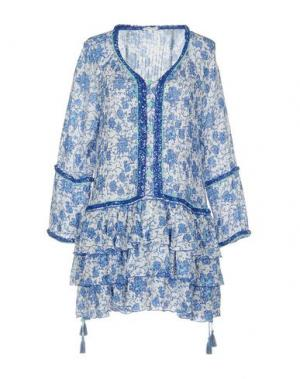 Короткое платье POUPETTE ST BARTH. Цвет: синий