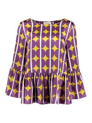 Блуза KI6 Who are you. Цвет: фиолетовый