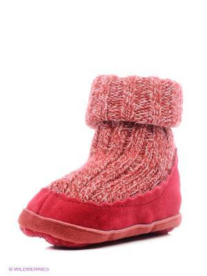 Тапочки- носки противоскользящие BROSS. Цвет: красный